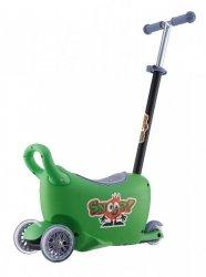 SNOOP! 3w1- jeździk, hulajnoga, kuferek - ZIELONY - Zakocha się w nim każdy Mały Podróżnik