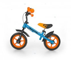 Rowerek biegowy DRAGON z hamulcem pomarańczowo-niebie<br />ski - wszechstronny rozwój