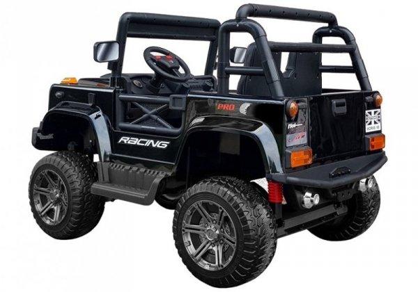 Dwuosobowy JEEP 4x4 12V Terenowe auto na akumulator BBH-0001 Czarny