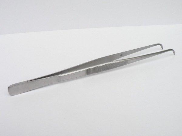 Pinceta Pęseta Zagięta Akwarystyczna Stal Nierdzewna 18cm