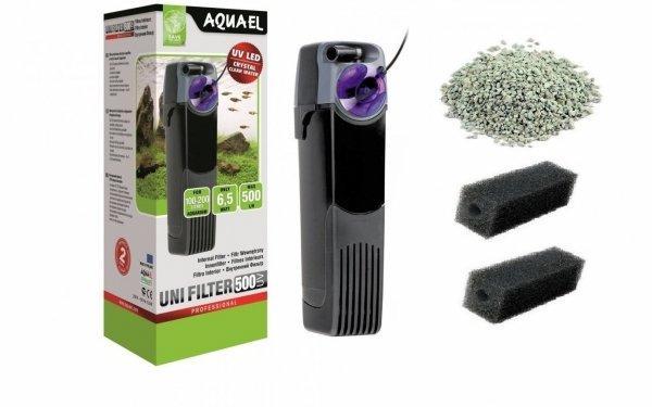 Aquael Filtr Wewnętrzny Unifilter UV 500 do 200L 3xGąbka, Zeolit