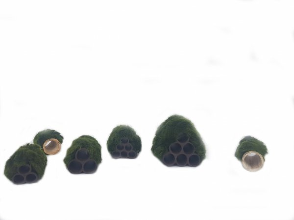 Gałęzatka Na Rurkobloczku Mini 3-Rurki 50x35x35mm Naturalna Ozdoba