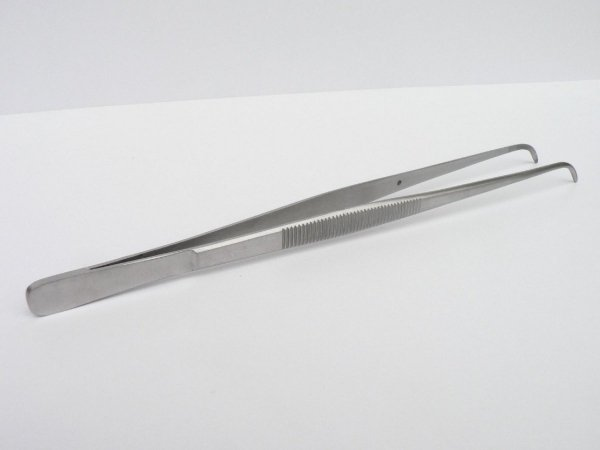 Pinceta Pęseta Zagięta Akwarystyczna Stal Nierdzewna 25cm