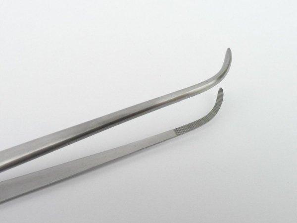 Pinceta Pęseta Zagięta Akwarystyczna Stal Nierdzewna 30cm