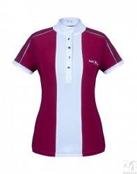 Koszulka konkursowa FP CLAIRE bordowobiała
