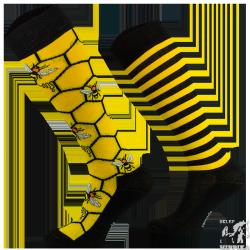 Podkolanówki jeździeckie COMODO bawełniane pszczoły