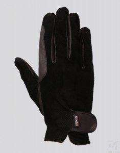 Rękawiczki skórzane KENIG Champion,perforowane<br />,czarne