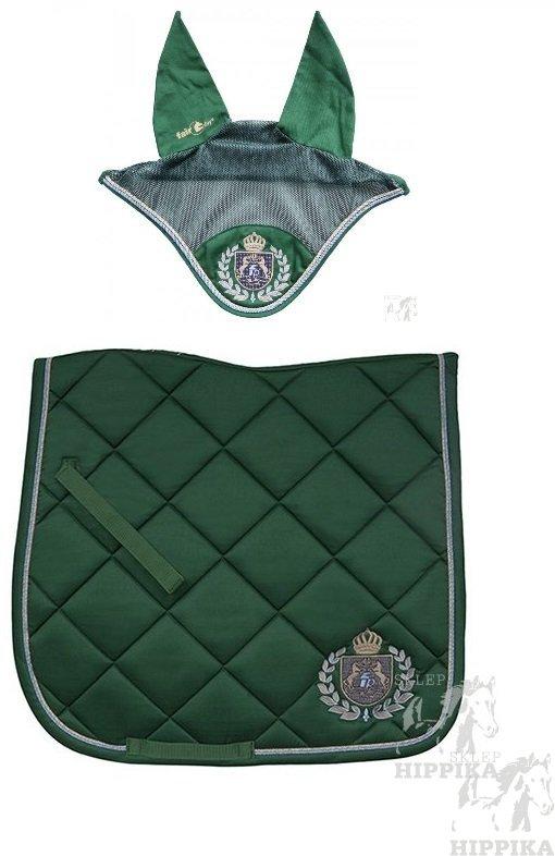 Czaprak Royal Diamond zielony DRE + nauszniki Fair Play