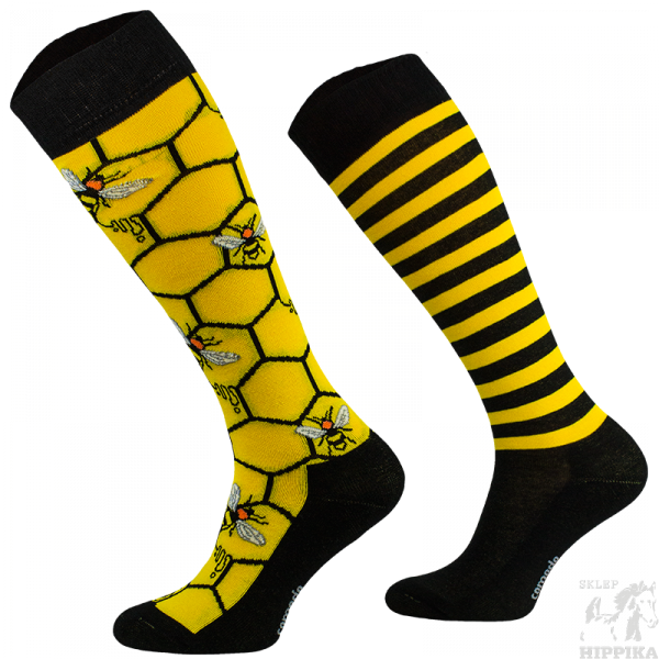 podkolanówki jeździeckie bawełna, comodo, pszczoły