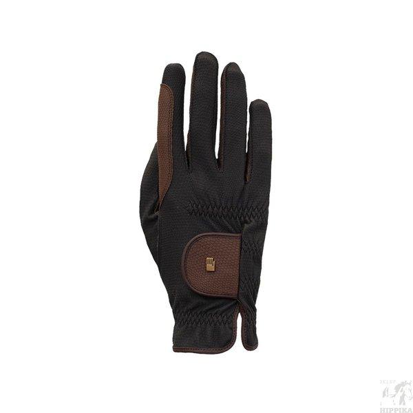 Rękawiczki ROECKL Malta, zimowe, czarno-brązowe