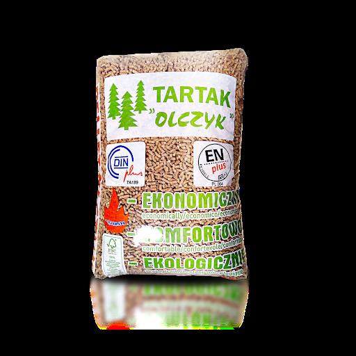OLCZYK pellet sosnowy 6mm worek 15kg / paleta 1050kg