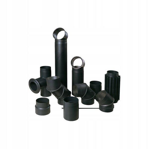 SZYBER SPALINOWY czarny fi 120/250mm 25cm BERTRAMS