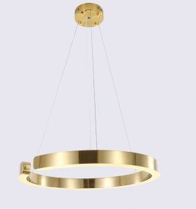 LAMPA WISZĄCA LED KOŁO RING OBRĘCZ ZŁOTA AUHILON LUCIANO P1506-1L