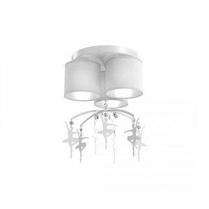 Lampa sufitowa BALETNICA WHITE 3xE27