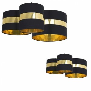 Lampa sufitowa PALMIRA BLACK / GOLD 3xE27 60W