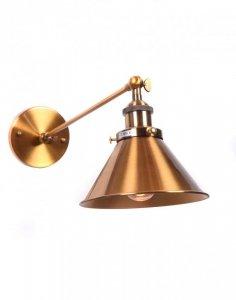 LAMPA ŚCIENNA KINKIET LOFTOWY MOSIĘŻNY GUBI WT
