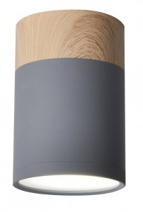 Lampa sufitowa szaro-drewniana 6,8x10cm Tuba Candellux 2284262