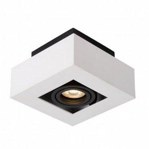 ITALUX CASEMIRO IT8001S1-WH/BK LAMPA SPOT OPRAWA NATYNKOWA KWADRATOWA BIAŁO CZARNA