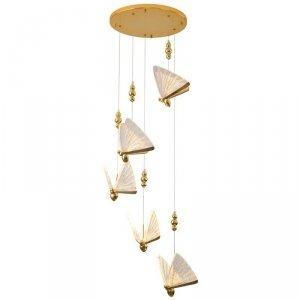 LAMPA WISZĄCA DESINGERSKA OZDOBNA MOTYLE BEE ZŁOTA STEP INTO DESIGN