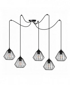 Lampa 5-płomienna LOFT  - SPIDER 1921/5/18