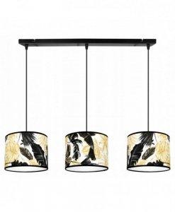 Lampa wisząca z abażurem - GOLD FLOWERS 2301/3/20