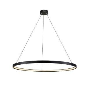 LIGHT PRESTIGE RING WISZĄCA DUŻA LAMPA CZARNA OKRĄGŁA LED