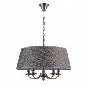 ITALUX ZANOBI PND-43272-5A LAMPA WISZĄCA KLASYCZNA PATYNA Z ABAŻUREM