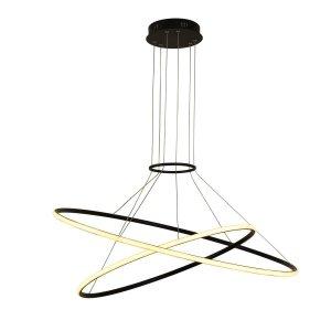 LIGHT PRESTIGE HALIFAX LAMPA WISZĄCA OBRĘCZE RING CZARNA LED