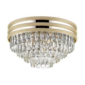 LAMPA PLAFON KRYSZTAŁOWY GLAMOUR Z KRYSZTAŁKAMI ZŁOTY C0525-05A-V6B5 NAICA ZUMA LINE