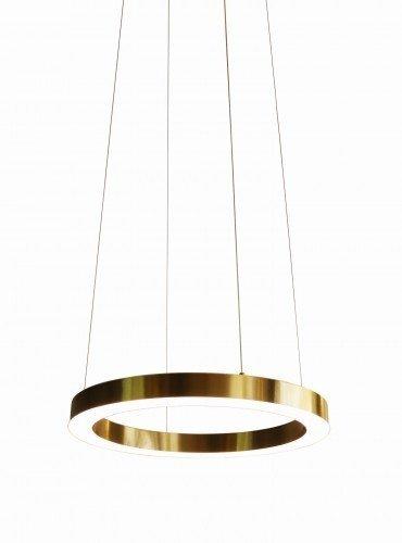 LAMPA WISZĄCA LED ZŁOTE KOŁO OBRĘCZ ROSSINI 100CM AUHILON