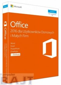 Oprogramowanie Office Home and Business 2016 Polish Medialess P2