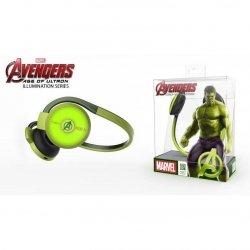 Słuchawki bezprzewodowe z mikrofonem E-Blue Avengers Hulk EBT932GR czarno - zielony