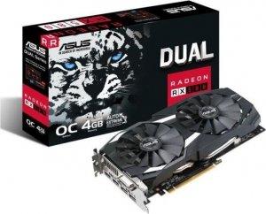 Karta VGA Asus RX 580 Dual-fan OC 4GB GDDR5 256bit DVI+2xHDMI+2xDP PCIe3.0