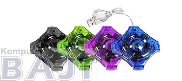 """Hub USB 2.0 Esperanza 4 porty """"Star"""" czerwony"""