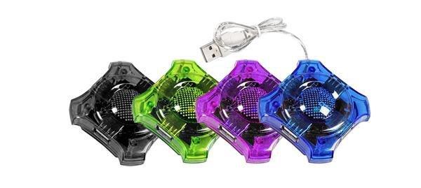 "Hub USB 2.0 Esperanza 4 porty ""Star"" fioletowy"