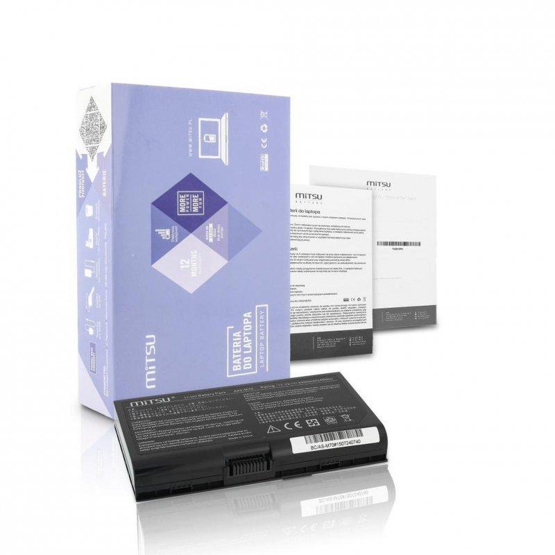 Bateria Mitsu do notebooka Asus G72, M70, N70 (14.4V-14.8V) (4400 mAh)