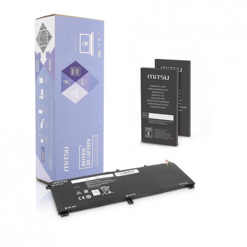 Bateria Mitsu do notebooka Dell XPS 15 9530, M3800 (10.8V-11.1V) (4400 mAh)