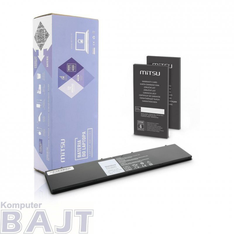 Bateria Mitsu do notebooka Dell Latitude E7440 (7.4V-7.6V) (4500 mAh)
