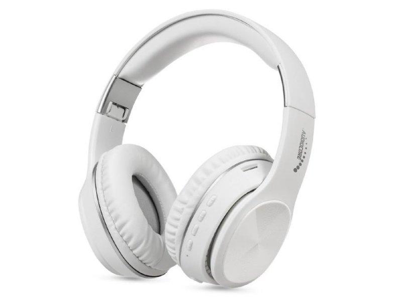 Słuchawki z mikrofonem Audiocore AC705W  nauszne bluetooth V5.0 +EDR białe