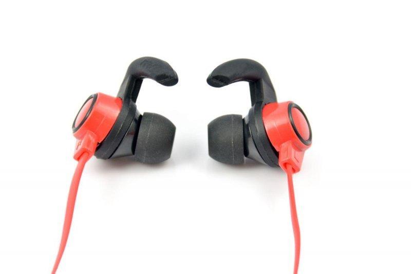 Słuchawki z mikrofonem X-ZERO X-H825BX, bezprzewodowe, Bluetooth, czerwono-czarne