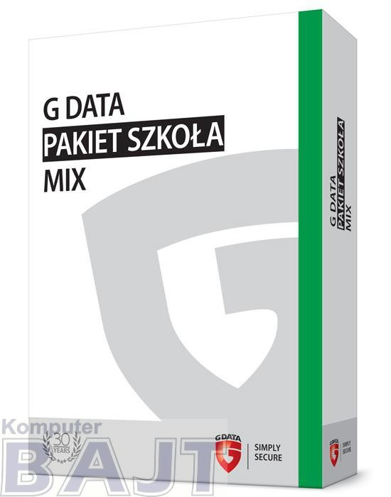 G DATA Pakiet Szkoła MIX BOX do 100PC 2 LATA
