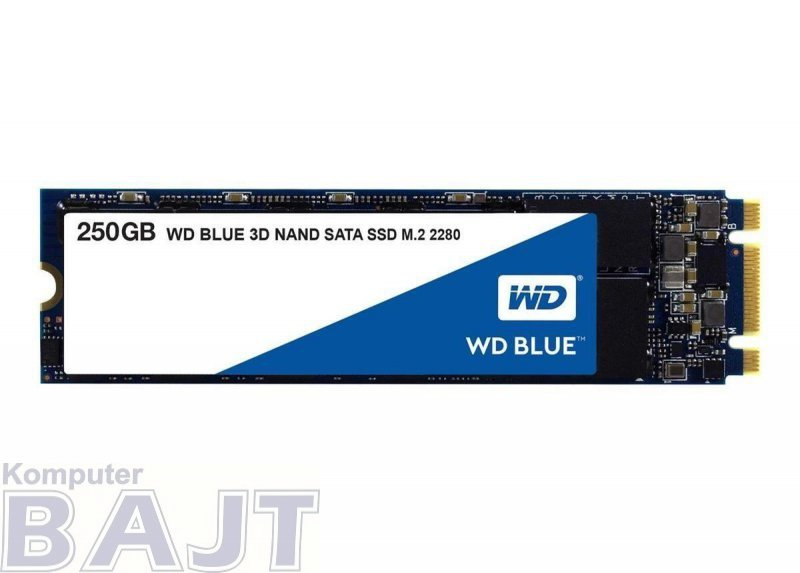 Dysk SSD WD Blue 250GB M.2 2280 (550/525 MB/s) WDS250G2B0B 3D NAND