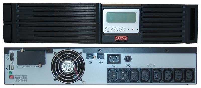 Zasilacz awaryjny UPS Lestar JsRT-775 750VA/675W PF 0,9 Sinus LCD RT 2x7Ah 8xIEC USB RS RJ-45