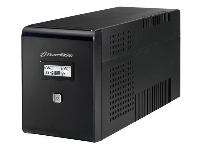 Zasilacz awaryjny UPS Power Walker Line-Interactive 1500VA 2xSCHUKO+2xIEC RJ USB LCD