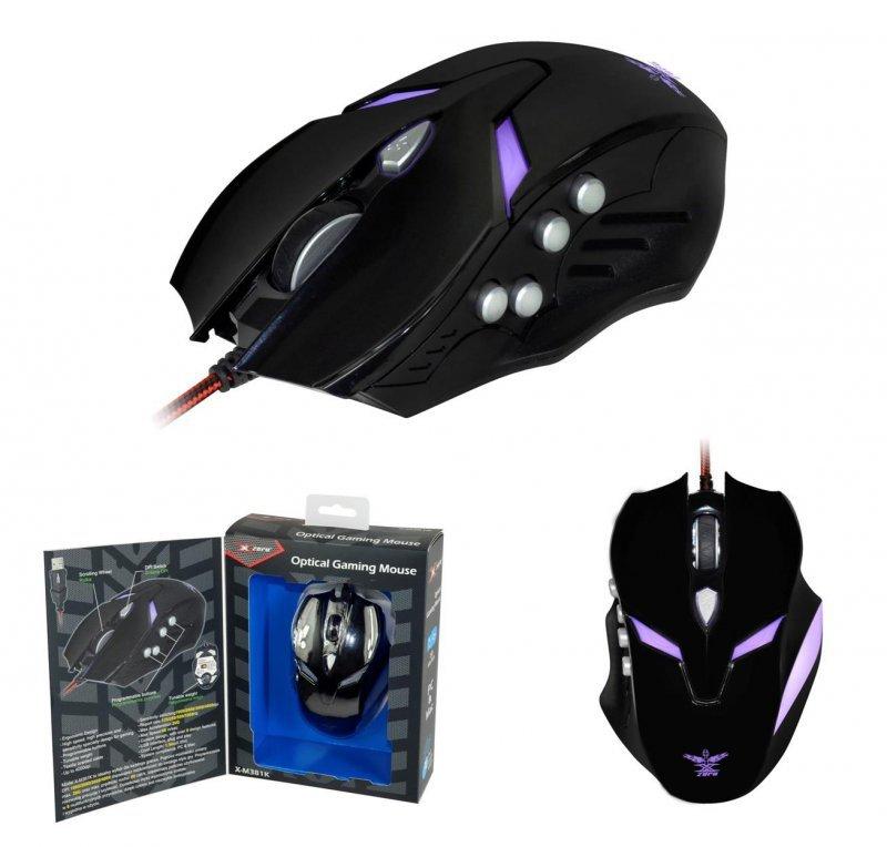 Mysz przewodowa X-ZERO X-M381K optyczna Gaming 8 przycisków 4000dpi czarna