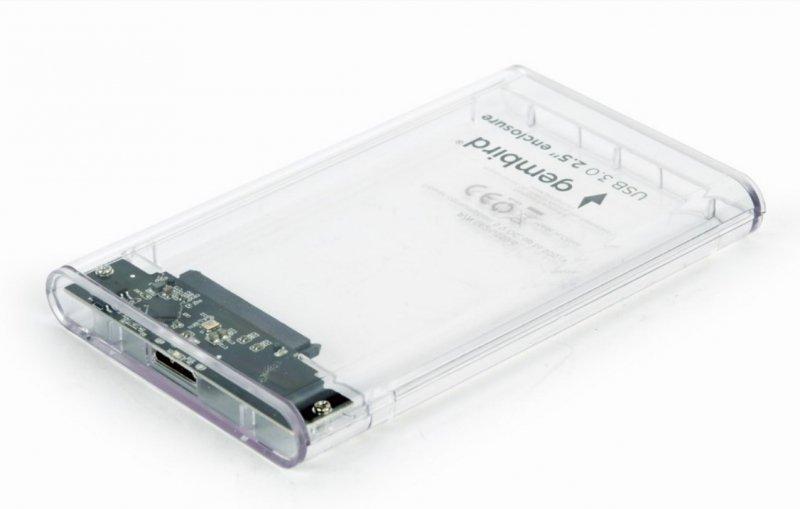 """Obudowa na dysk GEMBIRD EE2-U3S9-6 (2.5""""; USB 3.0; Plastik; kolor przeźroczysty)"""
