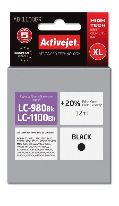 Tusz Activejet AB-1100BR (zamiennik Brother LC1100BK/980BK; Premium; 12 ml; czarny)