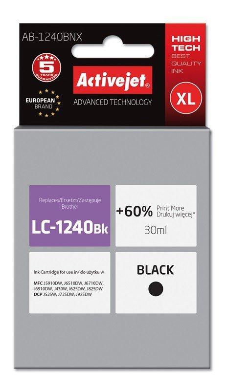 Tusz Activejet AB-1240BNX (zamiennik Brother LC1240BK/1220BK; Supreme; 30 ml; czarny)