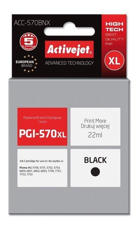 Tusz Activejet ACC-570BNX (zamiennik Canon PGI-570Bk XL; Supreme; 22 ml; czarny)