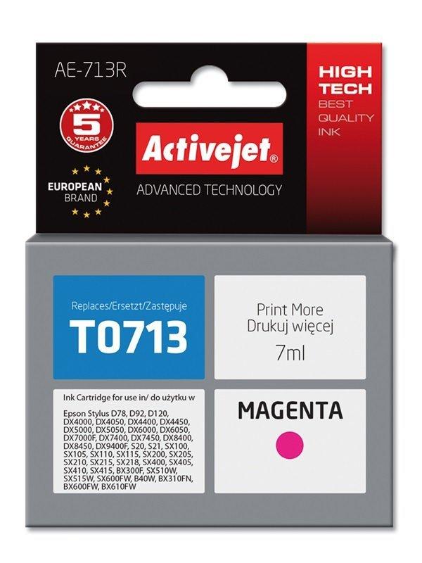 Tusz Activejet AE-713R (zamiennik Epson T0713, T0893, T1003; Premium; 7 ml; czerwony)